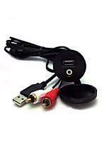 Недорогие -автомобильное крепление для монтажа на приборной панели usb aux 1/8 rca расширение data av кабель водонепроницаемый
