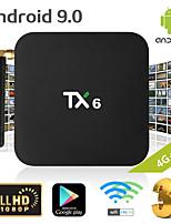 Недорогие -TX6 Smart TV Box Android 9.0 4K IPTV 4 ГБ DDR3 64 ГБ Emmc BT 4.1 Поддержка двойной Wi-Fi 2,4 Г / 5 ГГц YouTube H.265 Set Top Box