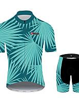 Недорогие -21Grams Цветочные ботанический Гавайи Муж. С короткими рукавами Велокофты и велошорты - Черный / синий Велоспорт Наборы одежды Дышащий Влагоотводящие Быстровысыхающий Виды спорта 100% полиэстер