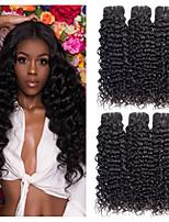 Недорогие -6 Связок Бразильские волосы Волнистые Необработанные натуральные волосы 100% Remy Hair Weave Bundles Человека ткет Волосы Пучок волос Накладки из натуральных волос 8-28 дюймовый Естественный цвет