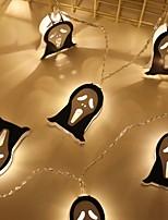 Недорогие -1,5 м Гирлянды 10 светодиоды Белый Декоративная Аккумуляторы AA 1 комплект
