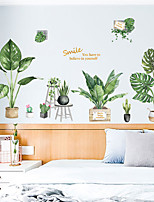 cheap -Green Plants / Floral / Botanical Wall Stickers Plane Wall Stickers Decorative Wall Stickers, PVC Home Decoration Wall Decal Wall Decoration 2pcs