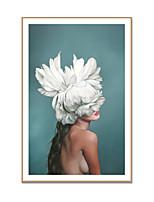 Недорогие -Отпечаток в раме Холст в раме С принтом - Люди Полистирен Масляные картины Предметы искусства