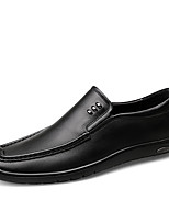 cheap -Men's Moccasin Nappa Leather Spring & Summer / Fall & Winter Casual / British Loafers & Slip-Ons Non-slipping Black