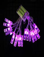 Недорогие -2м Гирлянды 20 светодиоды Фиолетовый Декоративная 5 V 1 комплект