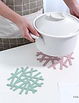 Недорогие -3шт снежинка термостойкие подставки для столовых дома полые кастрюли анти-горячий коврик