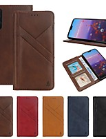 cheap -Case For Huawei Huawei P20 / Huawei P20 Pro / Huawei P20 lite Wallet / Card Holder / Shockproof Full Body Cases Lines / Waves Hard Genuine Leather