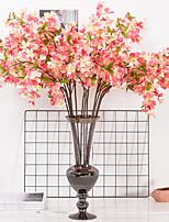 Недорогие -Искусственные Цветы 1 Филиал Классический Свадьба европейский Сакура Вечные цветы Букеты на пол