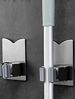 cheap -Multifunctional Traceless Sucker Hook Mop Holder Wall Mounted Kitchen Bathroom Suction Cup Rag/Broom/Mop Rack Storage Holder