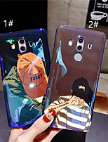 Недорогие -Кейс для Назначение Huawei Huawei P20 / Huawei P20 Pro С узором Кейс на заднюю панель Мультипликация Мягкий ТПУ