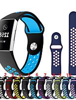 Недорогие -Ремешок для часов для Fitbit Charge 3 Fitbit Спортивный ремешок силиконовый Повязка на запястье