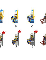 Недорогие -Конструкторы 8 pcs Воин Замок совместимый Legoing Простой Творчество Декомпрессионные игрушки Все Игрушки Подарок