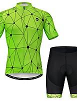 Недорогие -WEIMOSTAR Муж. С короткими рукавами Велокофты и велошорты Зеленый геометрический Велоспорт Наборы одежды Дышащий Быстровысыхающий Виды спорта Эластан геометрический / Слабоэластичная
