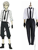 cheap -Inspired by Bungo Stray Dogs Atsushi Nakajima Anime Cosplay Costumes Japanese Cosplay Suits Shirt Pants Gloves For Men's Women's / Tie / Suspenders