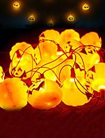 Недорогие -3M Гирлянды 16 светодиоды Желтый Декоративная 3 V 1 комплект