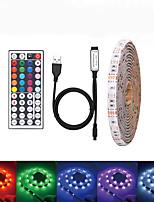 Недорогие -Loende USB DC 5 В 5 м светодиодные ленты 5050 RGB ленты ТВ фоновое освещение DIY домашний декоративный светильник с 44key контроллер комплект