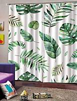 Недорогие -Home Decro Многофункциональные шторы Теплоизоляция Солнцезащитный крем утолщенные плотные водонепроницаемые полиэфирные занавески для ванной спальня / кухня тепло / звукоизоляция плотные тканевые