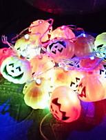 Недорогие -3,5 м тыква гирлянда 16 светодиодов многоцветный хэллоуин декоративные 5 v 1 комплект