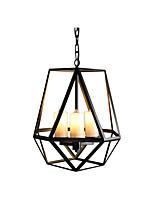 Недорогие -антикварные железные подвесные светильники американский кантри подвесной светильник черные клетки тень кухня остров обеденный стол люстры цепи регулируемые 3 лампы