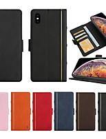 Недорогие -чехол для iphone xr / iphone xs max flip / с подставкой / ударопрочный корпус корпуса линии / волны жесткая натуральная кожа для iphone xs / x / iphone 8p / 7p / 6p / iphone 7/8 / 6s / iphone 5 / 5s /