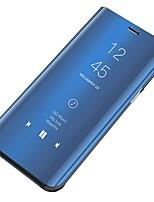 Недорогие -Кейс для Назначение SSamsung Galaxy S6 edge plus Защита от пыли / Зеркальная поверхность / Флип Чехол Однотонный Твердый ПК