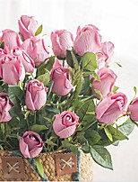 Недорогие -Искусственные Цветы 1 Филиал Классический Ретро европейский Розы Букеты на стол