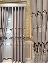 Недорогие -Modern Конфиденциальность 2 шторы Занавес Спальня   Curtains