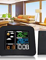 Недорогие -ts-75 жк-цифровой вход / выход температура автомобиля влажность барометр беспроводная метеостанция цвет будильник прогноз погоды