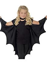 Недорогие -Bats Товары для Хэллоуина Девочки Косплей из фильмов Хэллоуин Черный Накидка Хэллоуин Lycra®