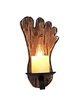 Недорогие -ретро деревенский настенный светильник деревянный настенный светильник металлическая осветительная конструкция грунтовое стекло подсвечник 1-светодиодный настенный светильник