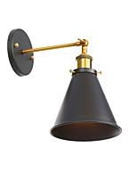 Недорогие -поворотный кронштейн бра бра настенный светильник антикварная бронза 1 светильник настенный светильник ретро для бар-клуба коридор регулируемые металлические настенные светильники