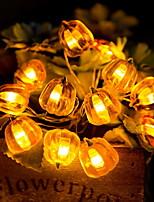 Недорогие -2 м тыква гирлянда 20 светодиодов желтый день благодарения хэллоуин декоративные 3 v 1 комплект