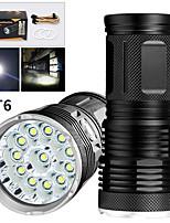 Недорогие -EX12 Светодиодные фонари Светодиодная лампа LED 12 излучатели 9600 lm Руководство 3 Режим освещения Водонепроницаемый Для профессионалов Анти-шоковая защита