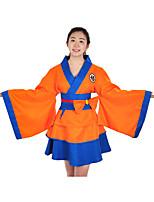 Недорогие -Вдохновлен Жемчуг дракона Son Goku / Куки-аниме Аниме Косплэй костюмы Японский Косплей Костюмы Контрастных цветов Длинный рукав Кофты / Юбки / лук Назначение Жен.
