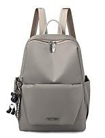 Недорогие -Большая вместимость Нейлон Молнии рюкзак Сплошной цвет Повседневные Черный / Розовый / Серый / Наступила зима