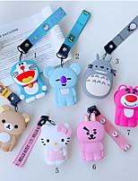 Недорогие -портативный портмоне для наушников сумка для хранения сумка милый мультфильм силиконовый ремешок джингл кошка котенок тоторо