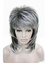 Недорогие -Парики из искусственных волос Естественный прямой Стиль Стрижка каскад Без шапочки-основы Парик Белый Черный / Белый Искусственные волосы 36~40 дюймовый Жен. Новое поступление Белый Парик