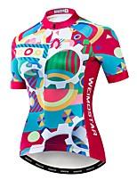 Недорогие -WEIMOSTAR Жен. С короткими рукавами Велокофты Пурпурный Велоспорт Джерси Верхняя часть Дышащий Виды спорта Полиэстер Эластан Терилен Горные велосипеды Шоссейные велосипеды Одежда / Слабоэластичная