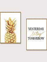 Недорогие -Отпечаток в раме Набор в раме - Абстракция Полистирен Постеры Предметы искусства