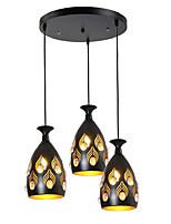 Недорогие -3-Light кластер / шишка / геометрический Подвесные лампы Рассеянное освещение Окрашенные отделки Металл Хрусталь, Творчество, Регулируется 110-120Вольт / 220-240Вольт