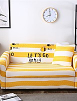cheap -Cartoon Bee Stripe Print Dustproof All-powerful Slipcovers Stretch Sofa Cover Super Soft Fabric Couch Cover with One Free Pillow Case