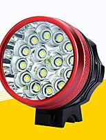 Недорогие -Светодиодная лампа Велосипедные фары Передняя фара для велосипеда LED Горные велосипеды Велоспорт Водонепроницаемый Безопасность Портативные Перезаряжаемая батарея 18650 11200 lm