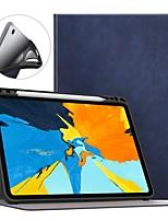 Недорогие -Кейс для Назначение Apple iPad (2018) / iPad Pro 11'' Защита от удара / Защита от пыли / Авто Режим сна / Пробуждение Чехол Однотонный Твердый Кожа PU