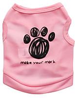 Недорогие -Собаки Жилет Одежда для собак Цитаты и выражения Зеленый Синий Розовый Полиэстер Костюм Назначение далматина Корги Гончая Лето Универсальные Милый стиль На каждый день