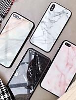 Недорогие -Кейс для Назначение Apple iPhone XS / iPhone XR / iPhone XS Max Зеркальная поверхность / С узором Кейс на заднюю панель Мрамор Твердый Закаленное стекло