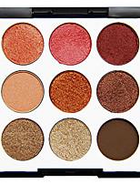 Недорогие -9 цветов Тени Тени для век Pro / Прост в применении Офис Повседневный макияж косметический