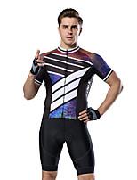 Недорогие -XINTOWN Муж. С короткими рукавами Велокофты и велошорты Черный / Белый Велоспорт Дышащий Виды спорта Эластан Однотонный Горные велосипеды Шоссейные велосипеды Одежда / Эластичная