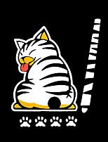 Недорогие -мультфильм смешной движущийся хвост кошка наклейки светоотражающие наклейки