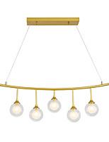 Недорогие -OEM 5-Light Шары Подвесные лампы Рассеянное освещение Окрашенные отделки Металл Стекло Свеча Стиль 110-120Вольт / 220-240Вольт Лампочки не включены