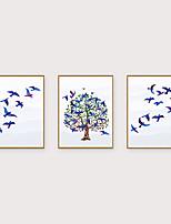 Недорогие -Отпечаток в раме Набор в раме - Пейзаж Животные Полистирен Иллюстрации Предметы искусства
